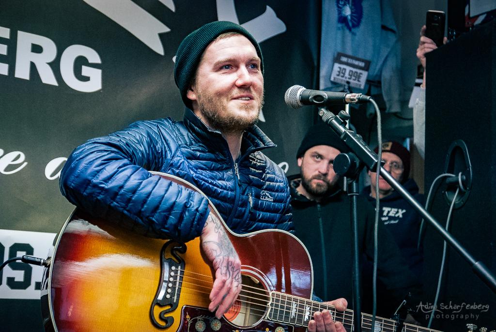 acoustic concert of Brian Fallon at Core Tex, Berlin (2018)